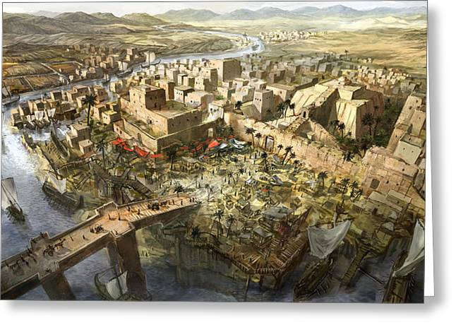 Babylon Digital Greeting Cards - Mesopotamia Greeting Card by Jeff Brown