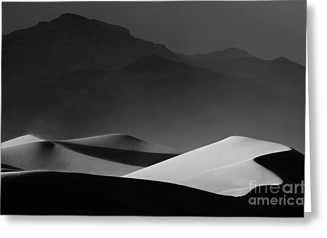 Mountains Of Sand Greeting Cards - Death Valley California Mesquite Dunes 14 Greeting Card by Bob Christopher