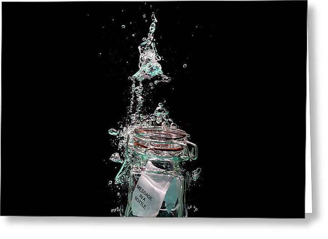 Message in sinking bottle Greeting Card by Simon Bratt Photography LRPS
