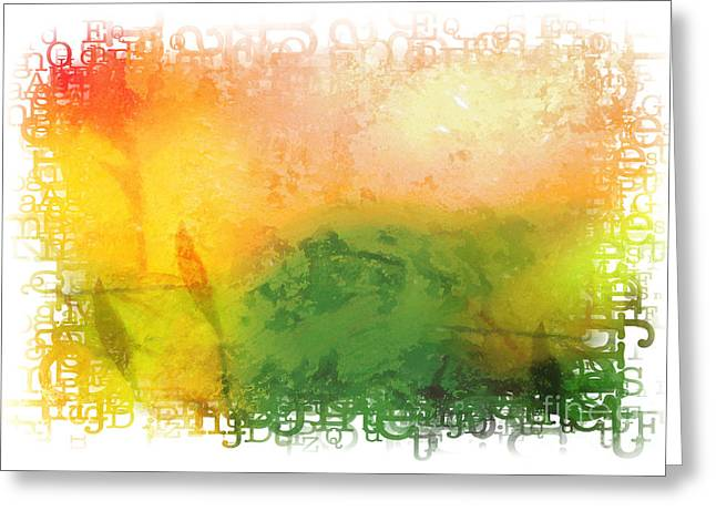 Acrylic Prints Mixed Media Greeting Cards - Message Greeting Card by Lutz Baar