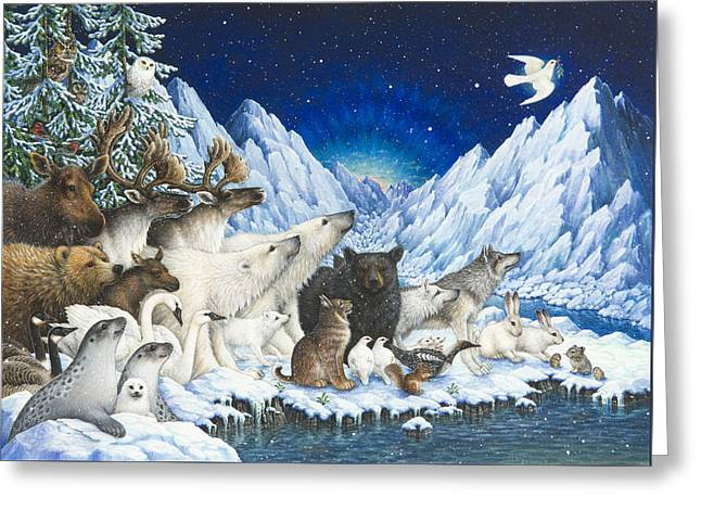 Message Of Peace Greeting Card by Lynn Bywaters