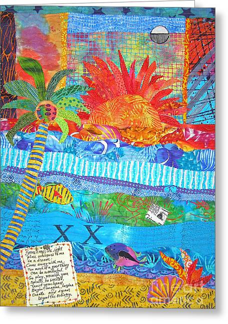 Sunset Framed Prints Mixed Media Greeting Cards - Messages from Paradise Greeting Card by Susan Rienzo