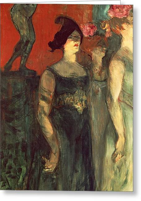 Messalina Greeting Card by  Henri de Toulouse Lautrec