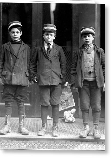 Messenger Boys, Lewis Hine, 1910 Greeting Card by Science Source