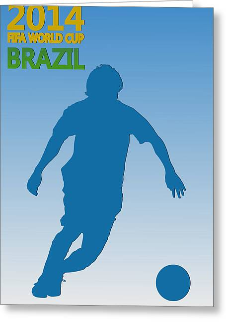 Messi Argentina World Cup Greeting Card by Joe Hamilton