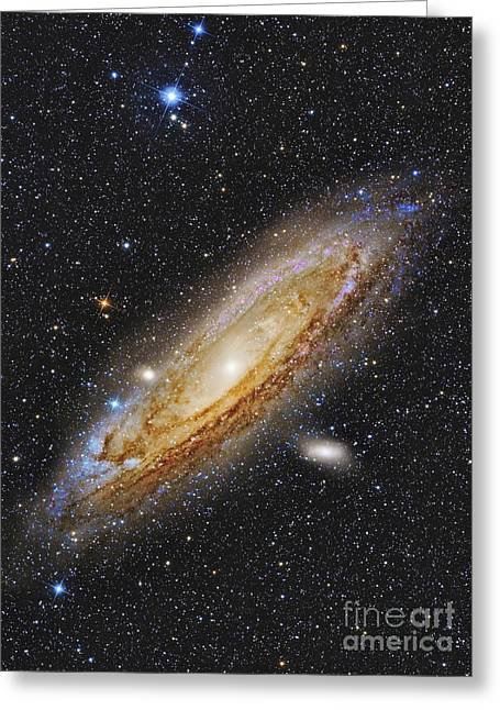Messier 31, The Andromeda Galaxy Greeting Card by Roberto Colombari