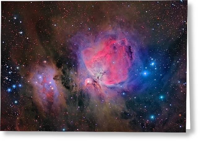 Colorful Cloud Formations Greeting Cards - Messier 42, The Orion Nebula Greeting Card by Roberto Colombari
