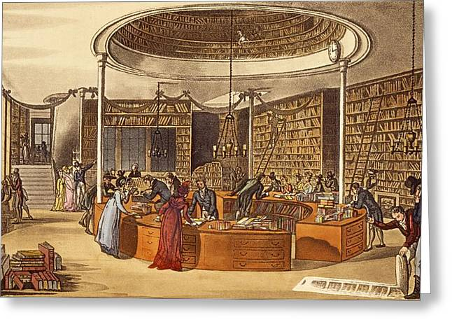 Library Greeting Cards - Messrs Lackington Allen And Co., 1809 Greeting Card by English School