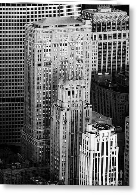 Manhatan Greeting Cards - Met Life Building Lincoln Building Lefcourt Colonial Building And Johns Manville Building New York Greeting Card by Joe Fox