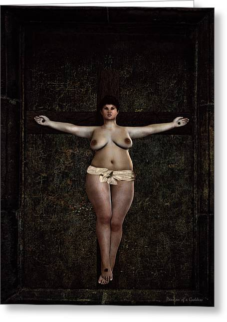 Metabolism Greeting Cards - Metabolic crucifixion Greeting Card by Ramon Martinez