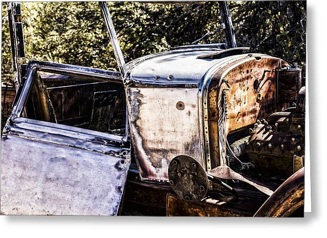 Rusted Cars Greeting Cards - Metal and Rust Greeting Card by Joseph S Giacalone
