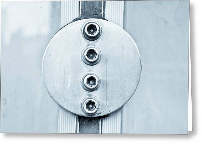 Component Greeting Cards - Metal bolts Greeting Card by Tom Gowanlock