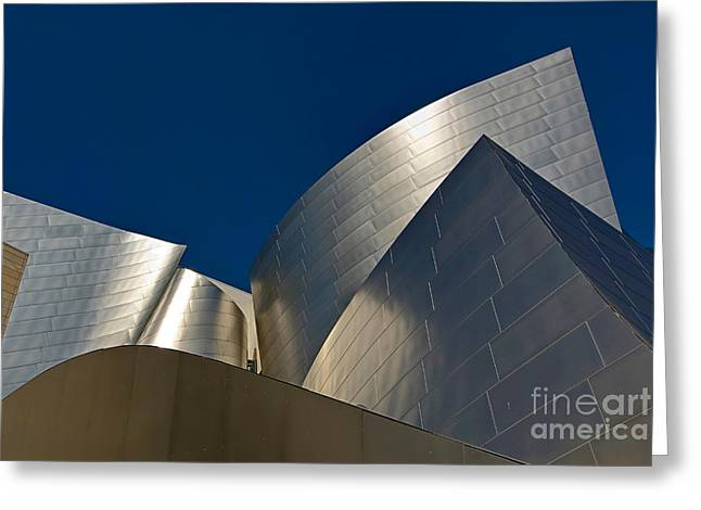 Metal Fold - Walt Disney Concert Hall Abstract In Downtown Los Angeles Greeting Card by Jamie Pham