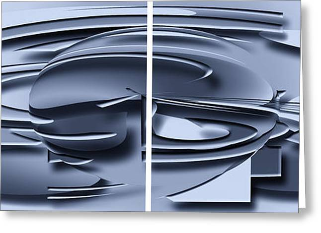 Abstract Forms Greeting Cards - Metal Graphic Greeting Card by Ludek Sagi Lukac
