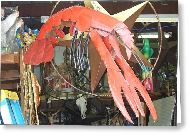 Pictures Sea Creatures Photographs Greeting Cards - Metal Lobster Greeting Card by Donna Wilson