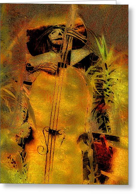 Mexican Sculpture Greeting Cards - Metal Mariachi Greeting Card by Ron Regalado