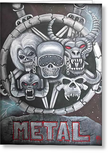 Megadeth Greeting Cards - Metal Greeting Card by Meranda Hedderson