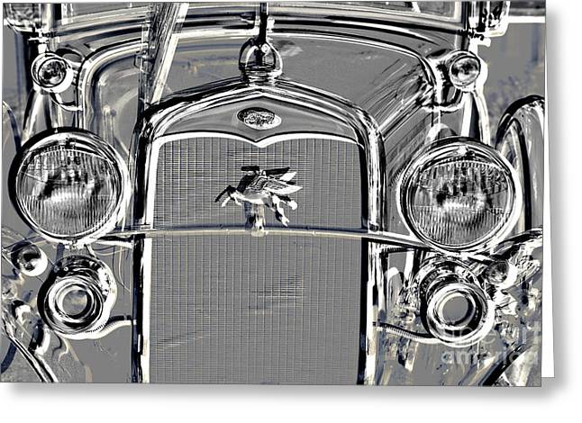 Metal Print Classic Ford Police Car Automobile Grill 3012.03 Greeting Card by M K  Miller
