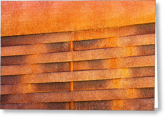 Metallic Sheets Greeting Cards - Metal Rust Background Greeting Card by Joel Vieira