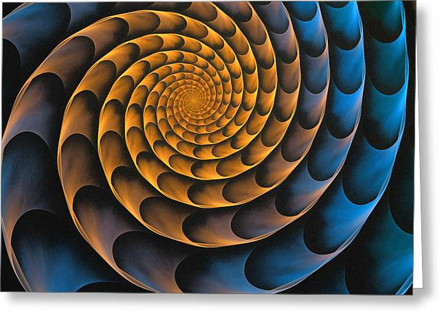Metal Spiral Greeting Card by Anastasiya Malakhova