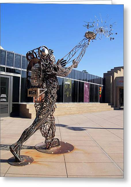 Metal Street Art Greeting Card by Mark Williamson