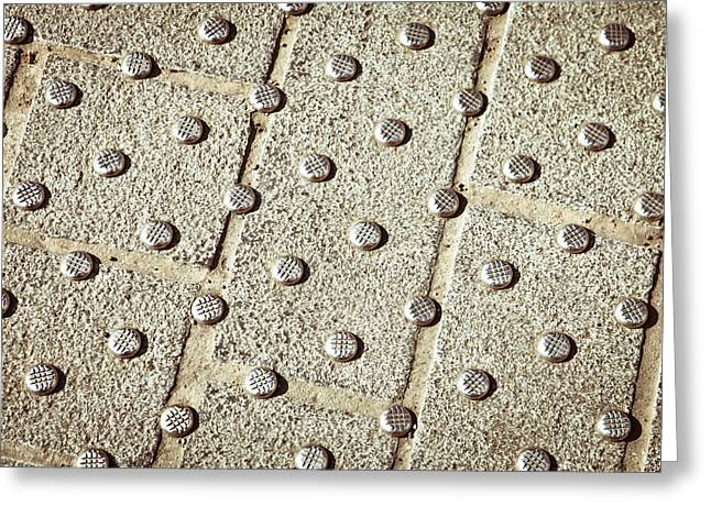 Background Greeting Cards - Metal studs Greeting Card by Tom Gowanlock