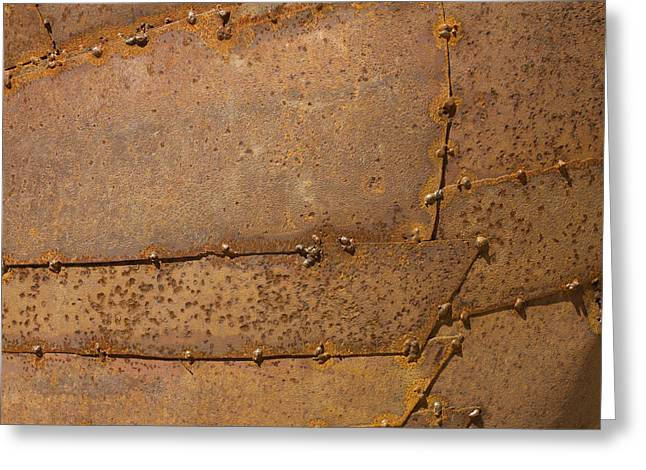 Rusty Greeting Cards - Metal texture Greeting Card by Bernard Jaubert