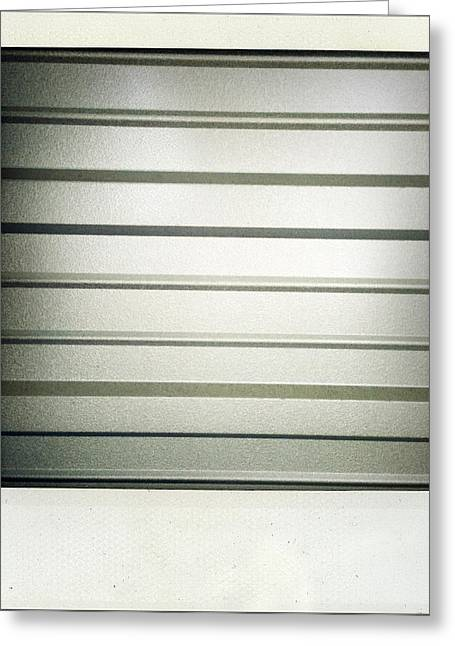 Shiny Photographs Greeting Cards - Metal texture Greeting Card by Les Cunliffe