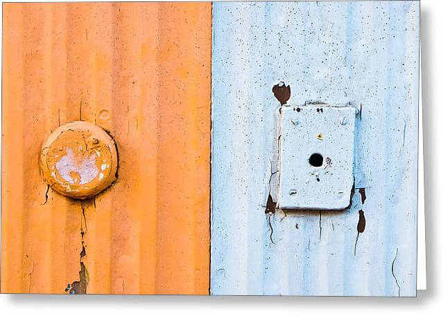 Metallic Sheets Greeting Cards - Metal texture Greeting Card by Tom Gowanlock