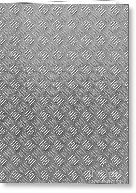 Metal Textured Background Greeting Card by Antony McAulay