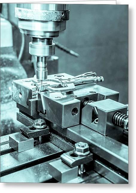 Metal Tooling Shop Floor Greeting Card by Photostock-israel