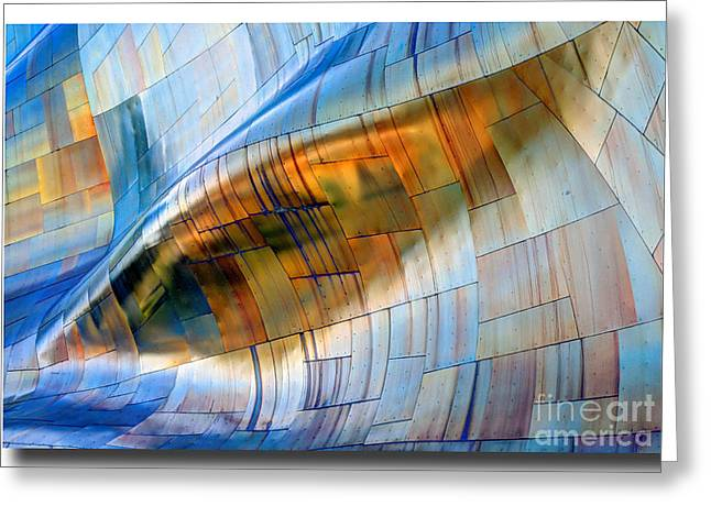 Enhanced Greeting Cards - Metal Wave Greeting Card by Chris Anderson