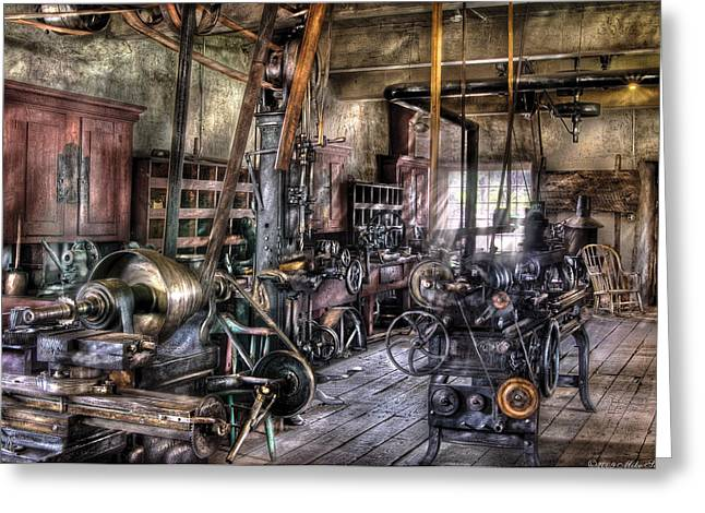 Metal Worker Greeting Cards - Metal Worker - Belts and Pullies Greeting Card by Mike Savad