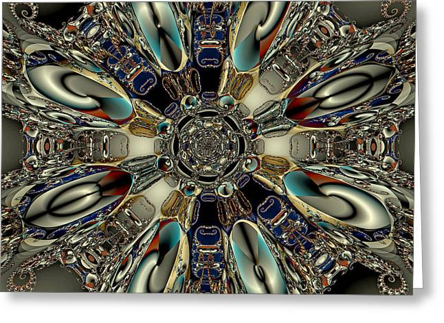 Metallegattica Greeting Card by Jim Pavelle