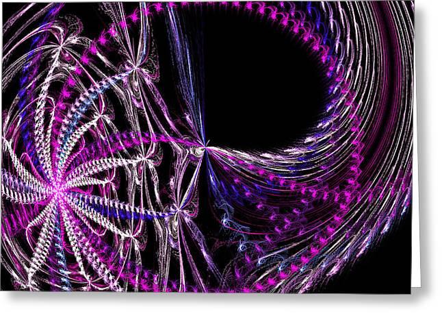 Purple Jellyfish Greeting Cards - Metallic Jellyfish Greeting Card by Rhonda Barrett