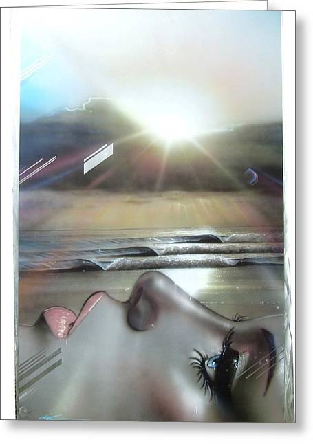 Sunset Prints Greeting Cards - Metallic Visions Greeting Card by Christian Chapman Art