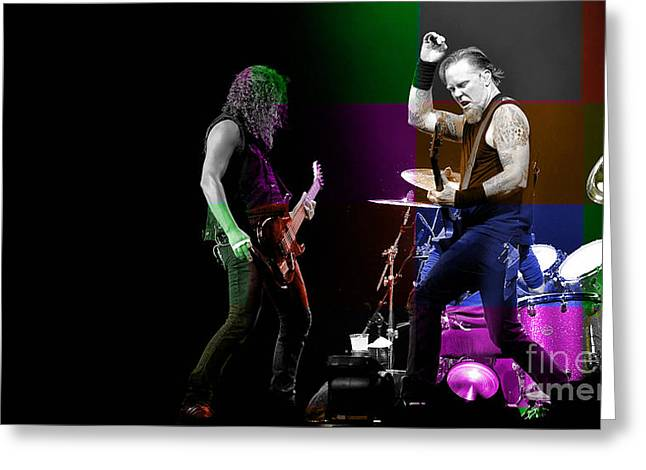 Metallica Greeting Cards - Metallica Greeting Card by Marvin Blaine