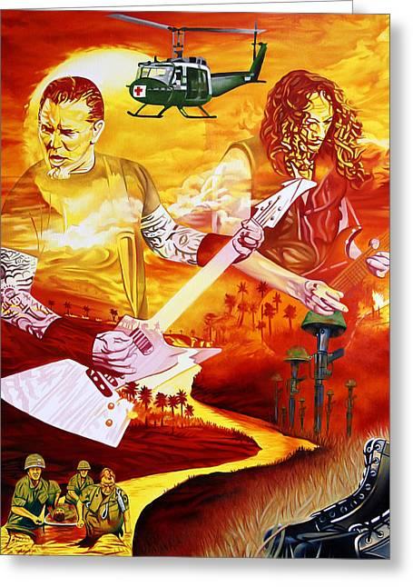 Metallica Greeting Cards - Metallica-One Greeting Card by Joshua Morton