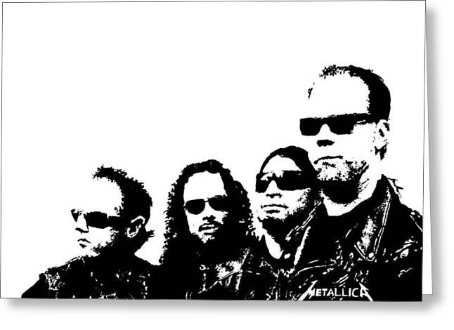 Metallica Greeting Cards - Metallica  Greeting Card by Paula Sharlea