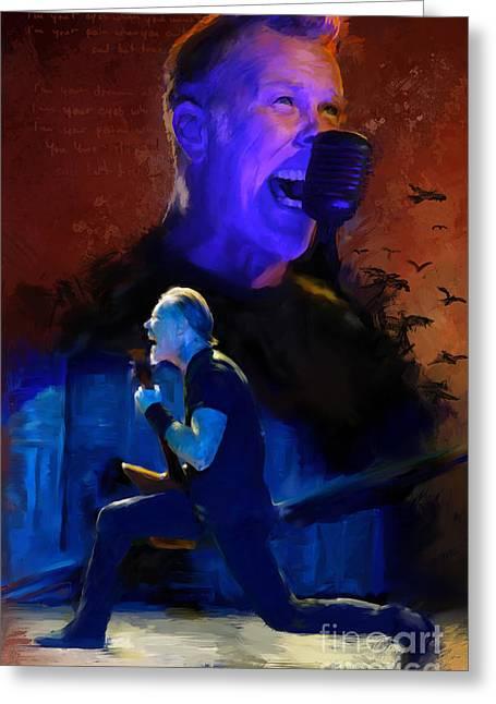 Metallica Mixed Media Greeting Cards - Metallica - Sad but true Greeting Card by Lunatic Air - Visual Art by Rico