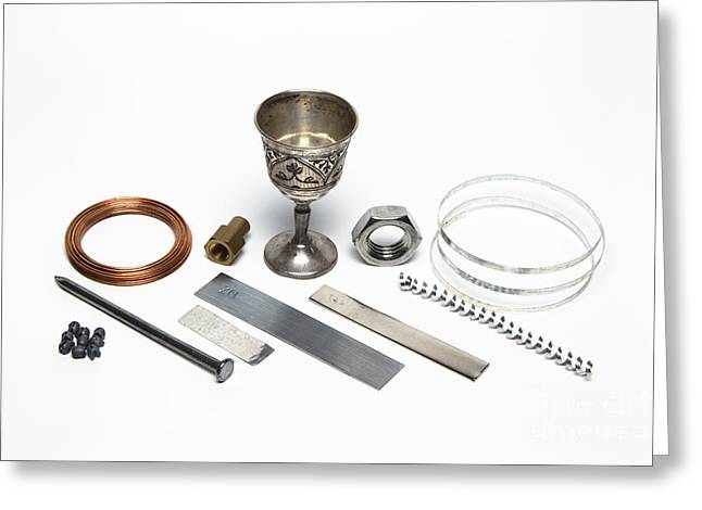 Metal Sheet Greeting Cards - Metals Greeting Card by GIPhotoStock