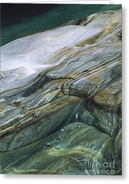 Ticino Canton Greeting Cards - Metamorphic Rock Greeting Card by Art Wolfe