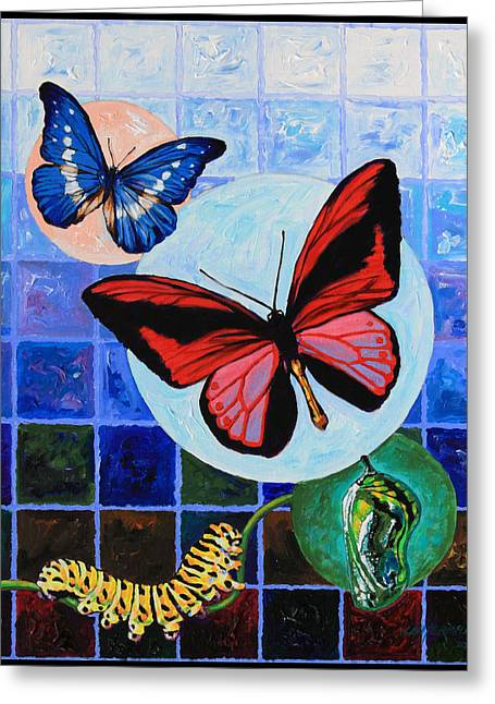 Pupa Greeting Cards - Metamorphosis of the New Life Greeting Card by John Lautermilch