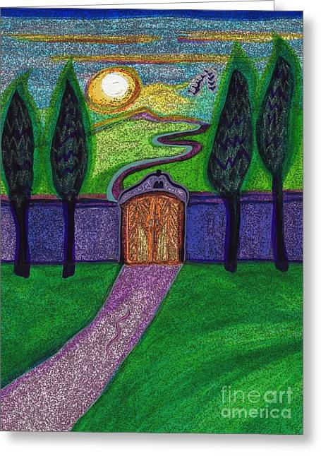 Mystic Art Drawings Greeting Cards - Metaphor Door by jrr Greeting Card by First Star Art