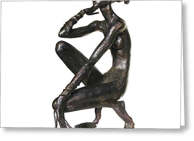 Nude Sculptures Greeting Cards - Metaphysics of Sound Greeting Card by Igor Grechanyk