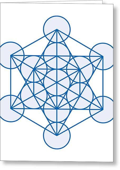 Inauguration Digital Greeting Cards - Metatron Cube Greeting Card by Peter Hermes Furian
