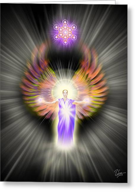 Metatron Greeting Card by Endre Balogh