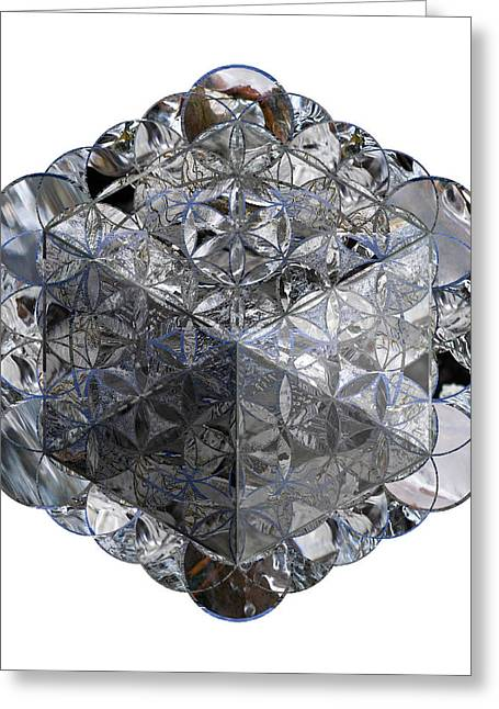 Sacred Geometry Greeting Cards - Metatrons Cube 2 Greeting Card by Sacred Geometry