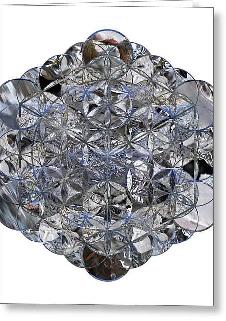Sacred Geometry Greeting Cards - Metatrons Cube Greeting Card by Sacred Geometry