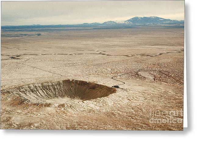 Astro Images Greeting Cards - Meteor Crater Greeting Card by Rita Boehm